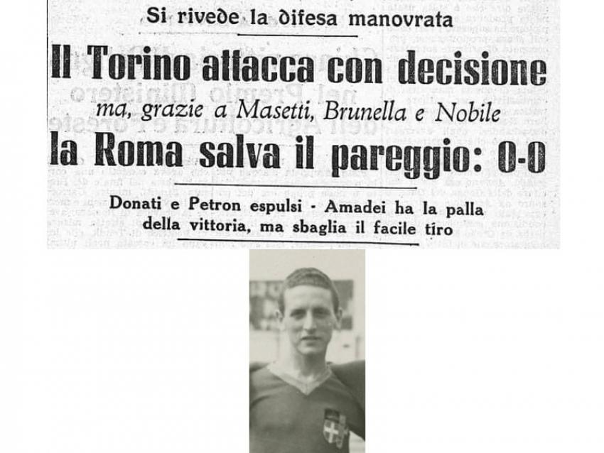 A Tursi targa in onore di Luigi Nobile, campione d'Italia con la Roma nel 1941-42 in serie A