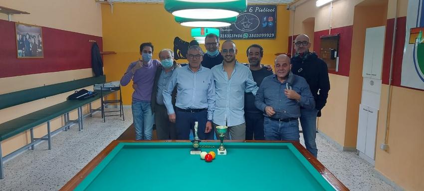 Il New Billiard Pisticci organizza il primo Torneo Sociale: vince Lino Barbalinardo