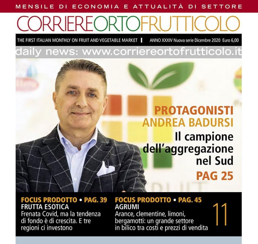 """""""Protagonisti"""": l'iniziativa nazionale de """"Il Corriere Ortofrutticolo"""" sceglie il pisticcese Andrea Badursi"""