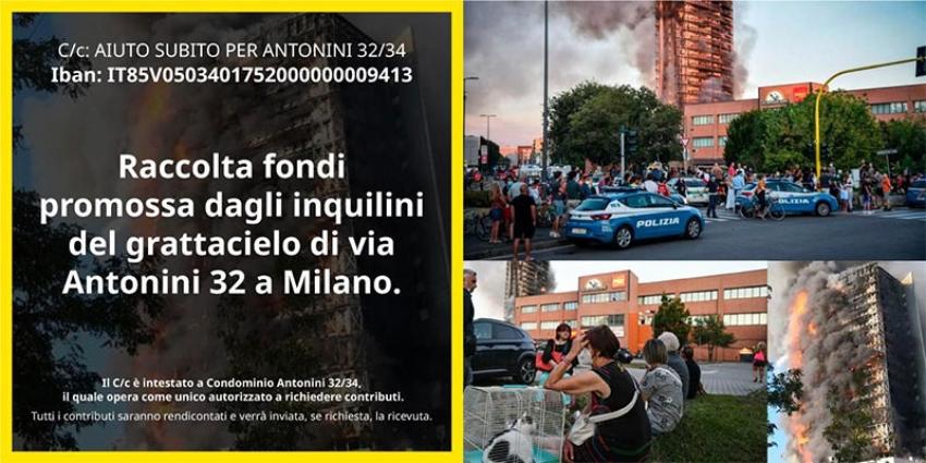 Un pisticcese rappresenta i condomini del grattacielo incendiatosi a Milano