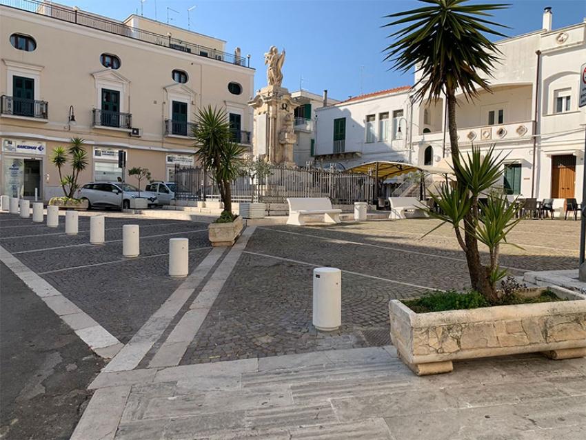 Terminati i lavori di riqualificazione di Piazza dei Caduti a Pisticci