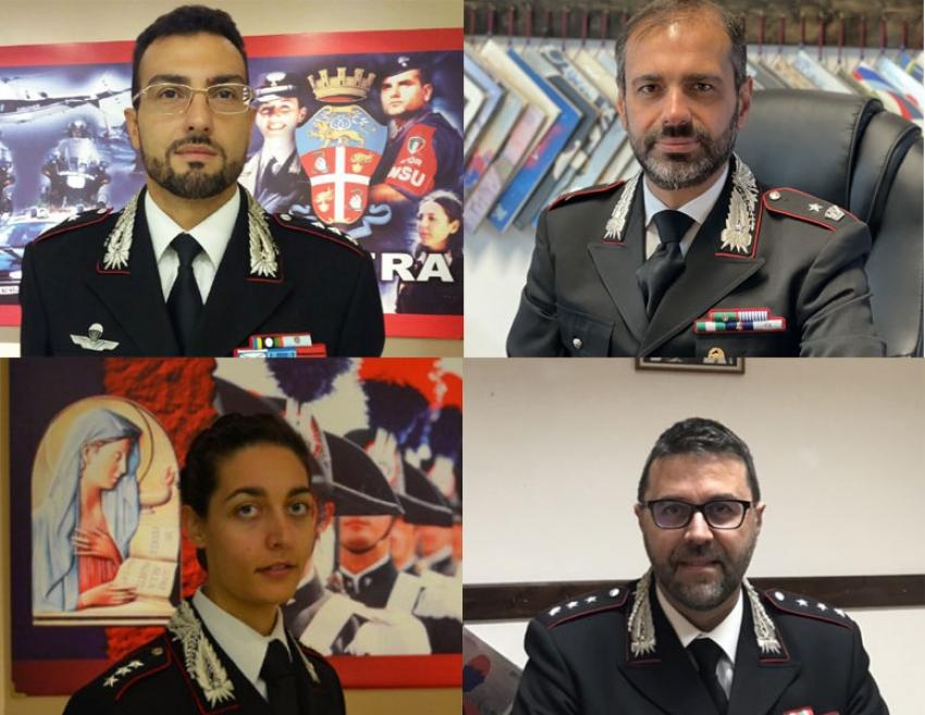 Cambio della guardia al comando delle compagnie carabinieri di Matera e Policoro
