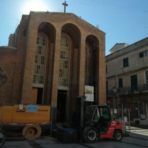 Finalmente ripresi i lavori presso la chiesa di San Rocco