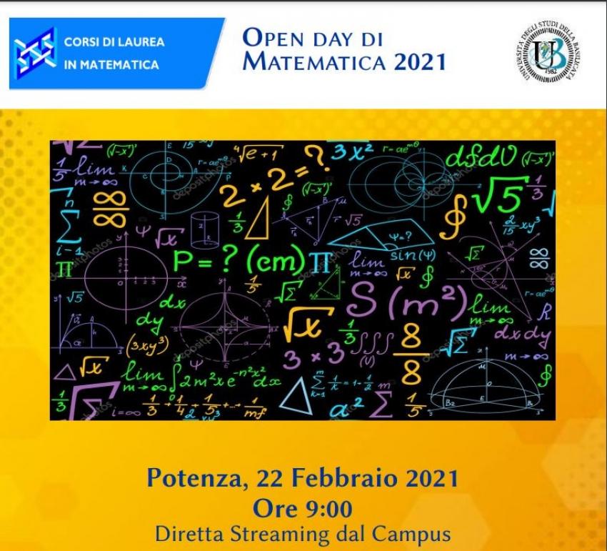 Unibas: il 22 febbraio gli Open Day di Matematica 2021 per gli studenti delle scuole superiori