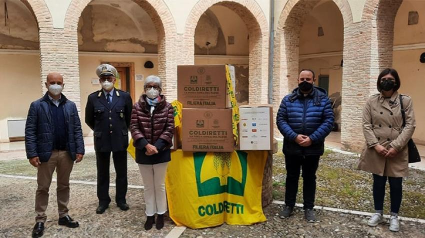 A Bernalda, Coldiretti dona altri pacchi solidali alle famiglie in difficoltà