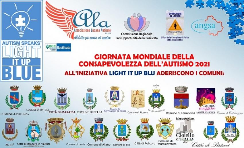 """Il 2 Aprile la """"Giornata Mondiale della Consapevolezza dell'Autismo"""". Alla campagna 'Light up Blue' aderisce anche Pisticci"""