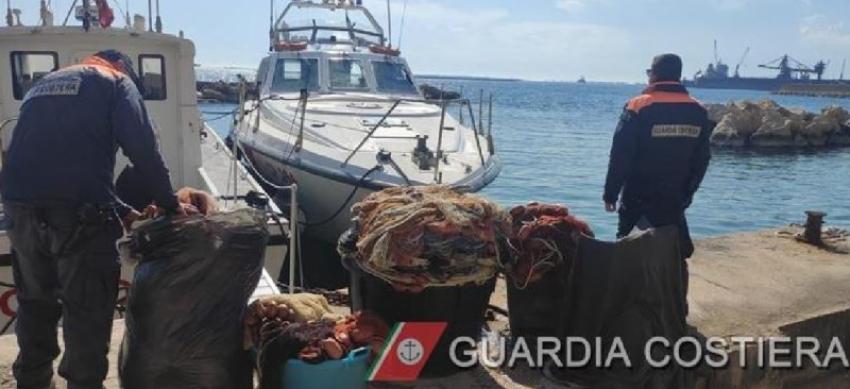Operazione contro pesca illegale: sequestro della Guardia Costiera a Marina di Pisticci