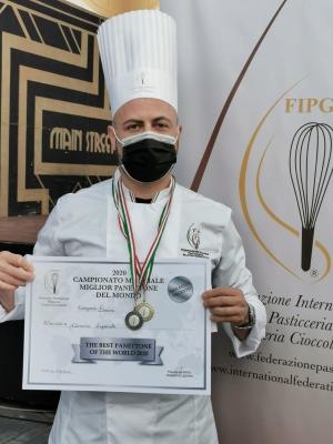 Premiato come panettone più buono del mondo. Il sindaco di Montalbano si congratula con Lopatriello