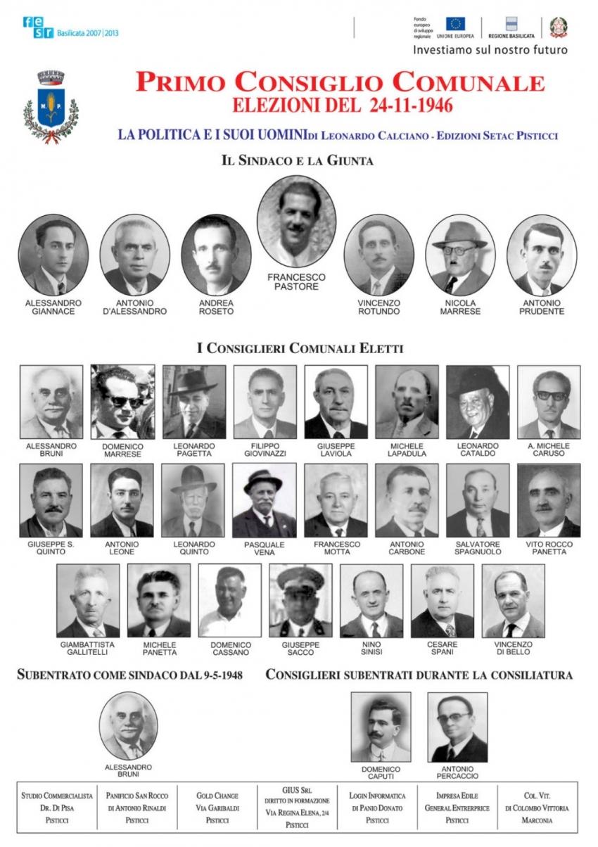 Rimosse e non più esposte le storiche foto dei consigli comunali dal'46 ad oggi
