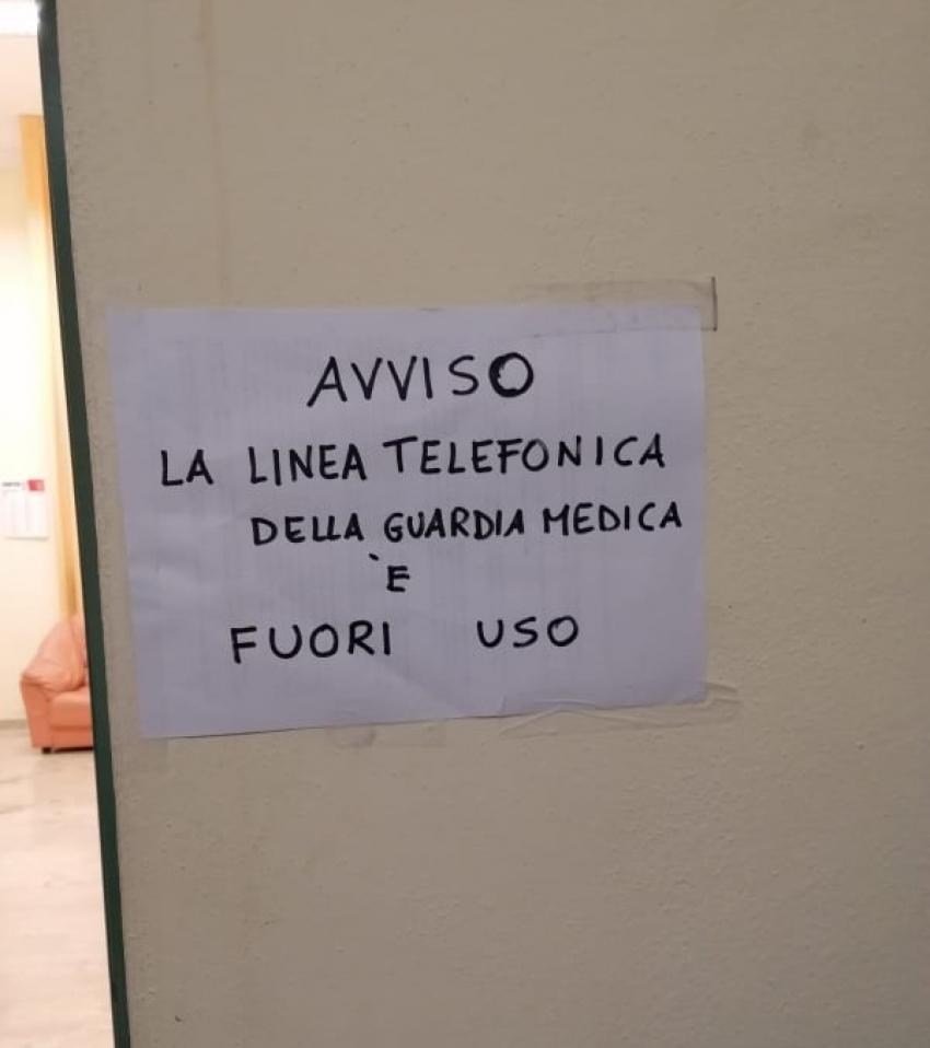 Utenza telefonica della Guardia medica di Pisticci interrotta da giorni. Diversi i disagi per i cittadini