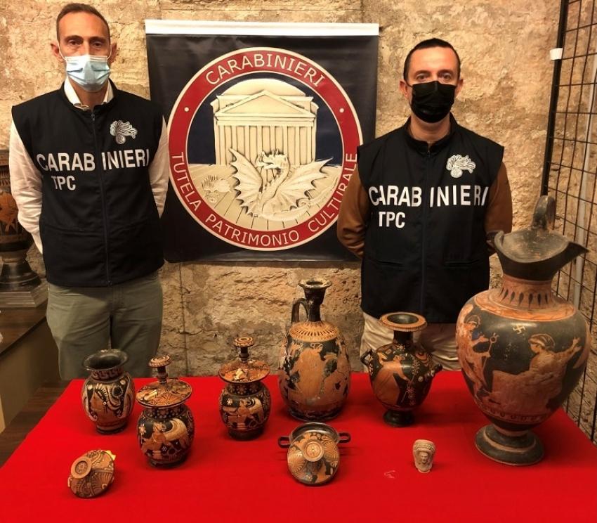 Traffico illecito e furto di materiale archeologico e beni di antiquariato. I risultati delle operazioni dei Carabinieri del Nucleo Tutela Patrimonio Culturale