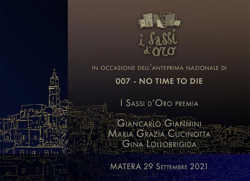 """Premio """"I Sassi d'Oro 2021"""" a Giancarlo Giannini, Maria Grazia Cucinotta e Gina Lollobrigida"""