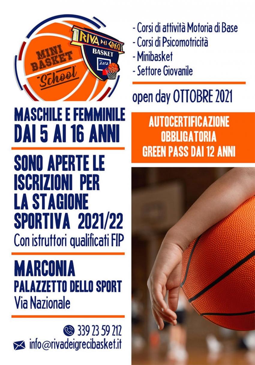A Pisticci e Marconia torna il minibasket grazie alla ASD Riva dei Greci Basket Bernalda