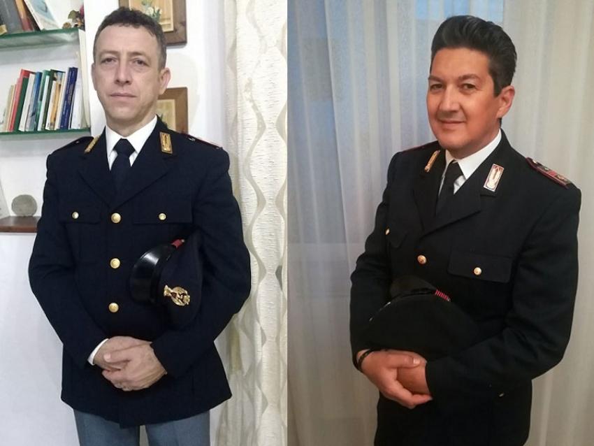 Medaglia d'argento al valor civile per i poliziotti Carlo Geronimo e Domenico Viggiano